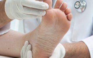 Fussbehandlung podologische Inspektion